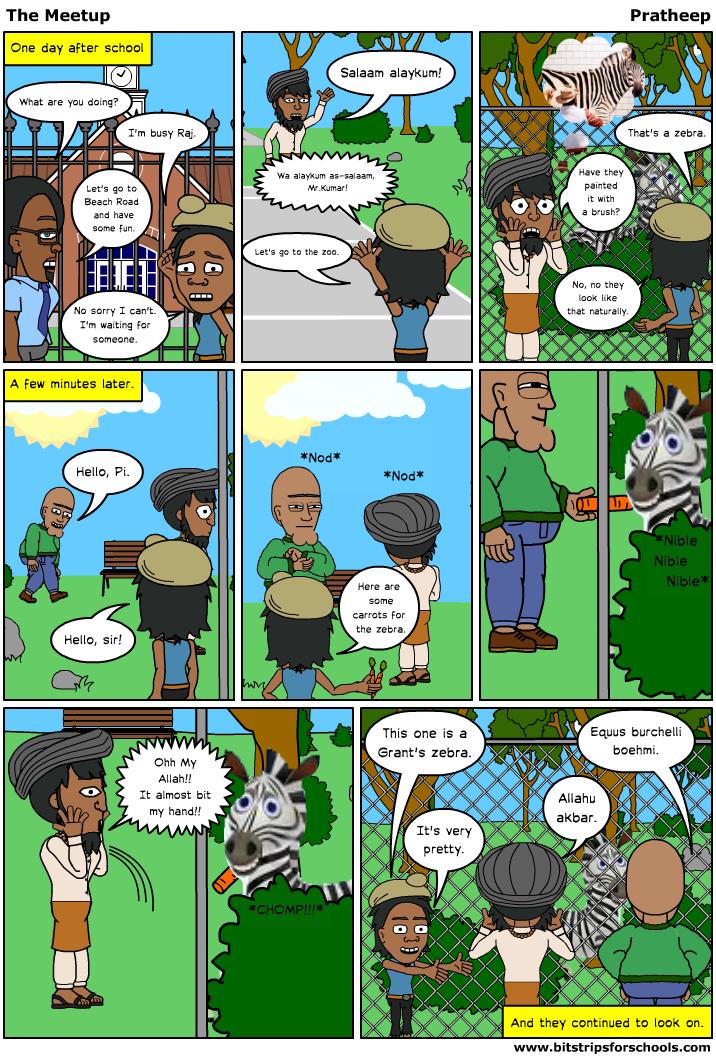 Pratheep 39 s creative side life of pi comic strip for Life of pi tiger name